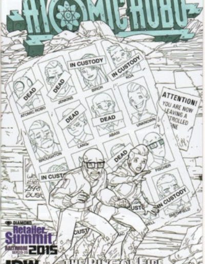 Atomic Robo: Ring of Fire #1 (Retailer Summit Sketch) - September 2015