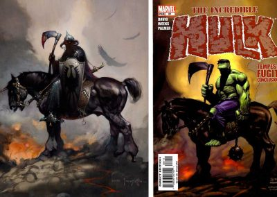 "Frank Frazetta's ""Death Dealer"" & Incredible Hulk (Vol 2) #81 - July 2005"