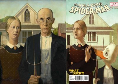 "Grant Wood's ""American Gothic"" & Amazing Spiderman (Vol 3) #17 - June 2015"