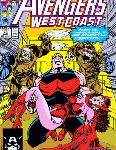 Avengers West Coast #73 - August 1991