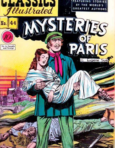 Classics Illustrated #44 Mysteries of Paris - December 1947