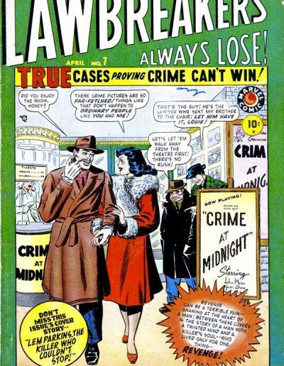 Lawbreakers Always Lose #7 - April 1949