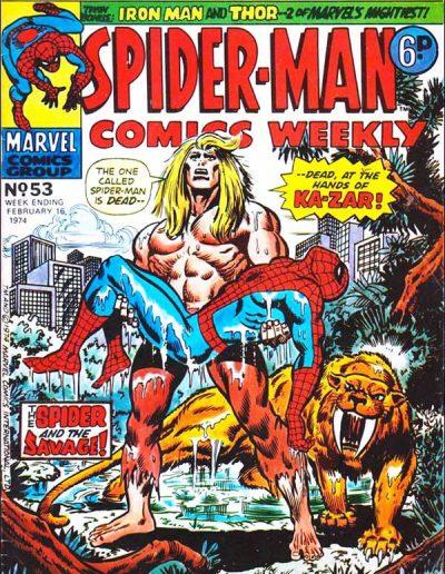Spiderman Comics Weekly #53 - 1974
