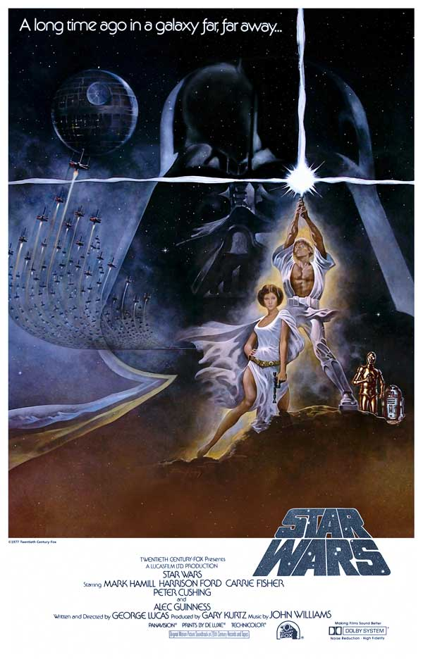 Star Wars: Episode IV A New Hope Movie Poster - 1977
