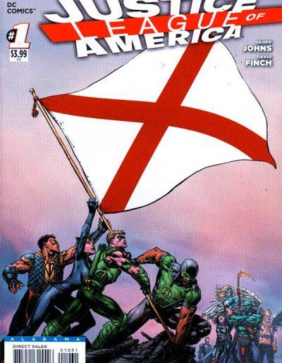 Justice League of America (Vol 3) #1 (Alabama Variant) - April 2013