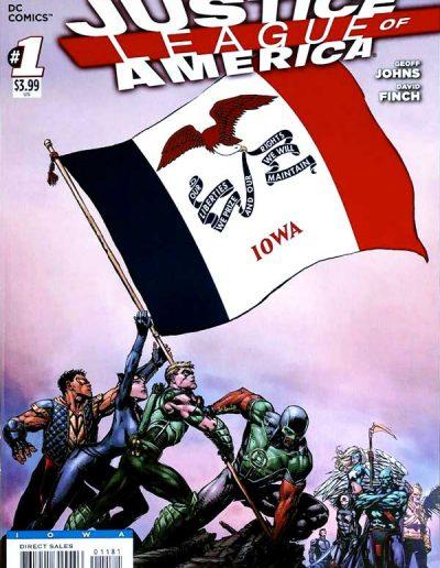 Justice League of America (Vol 3) #1 (Iowa Variant) - April 2013