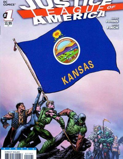 Justice League of America (Vol 3) #1 (Kansas Variant) - April 2013