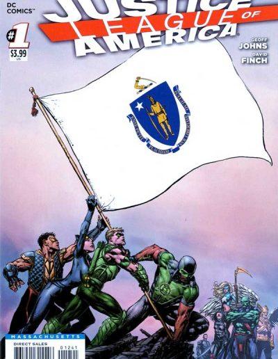 Justice League of America (Vol 3) #1 (Massachusetts Variant) - April 2013