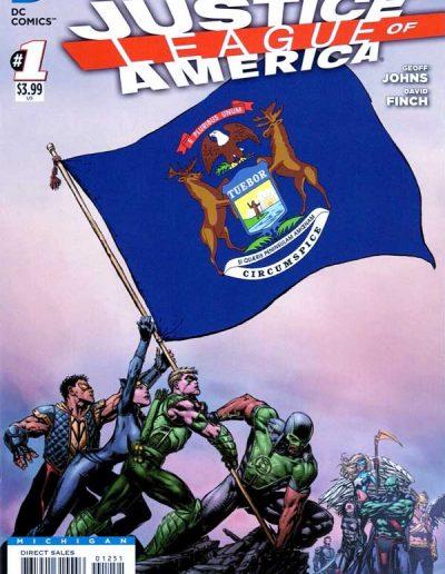 Justice League of America (Vol 3) #1 (Michigan Variant) - April 2013