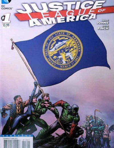 Justice League of America (Vol 3) #1 (Nebraska Variant) - April 2013