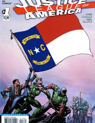 Justice League of America (Vol 3) #1 (North Carolina Variant) - April 2013
