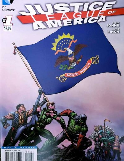 Justice League of America (Vol 3) #1 (North Dakota Variant) - April 2013
