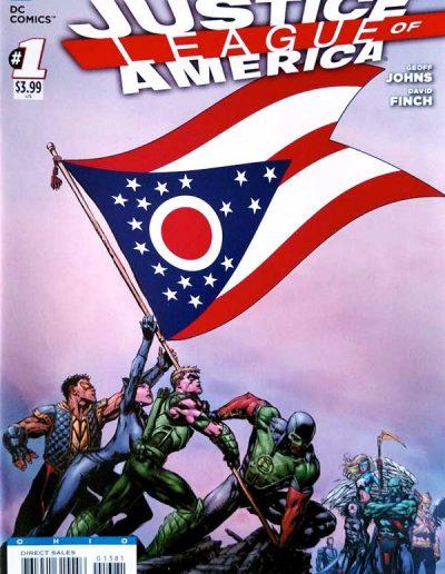 Justice League of America (Vol 3) #1 (Ohio Variant) - April 2013