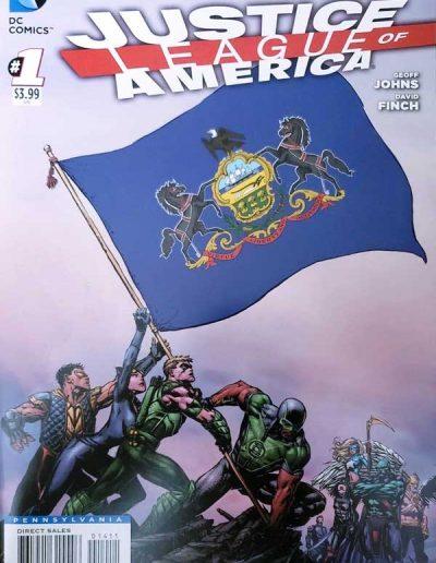 Justice League of America (Vol 3) #1 (Pennsylvania Variant) - April 2013