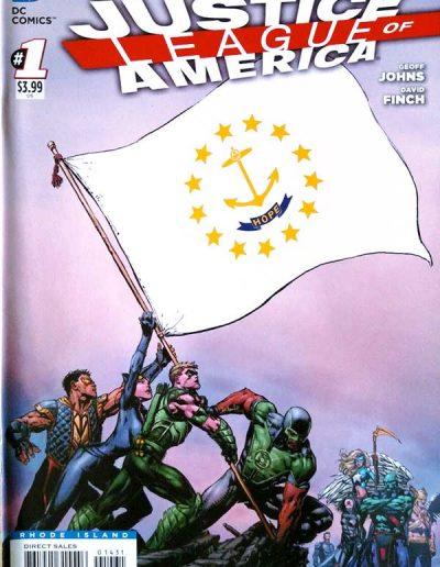 Justice League of America (Vol 3) #1 (Rhode Island Variant) - April 2013