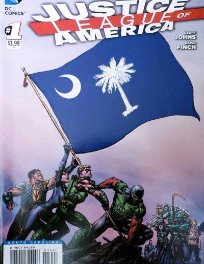Justice League of America (Vol 3) #1 (South Carolina Variant) - April 2013