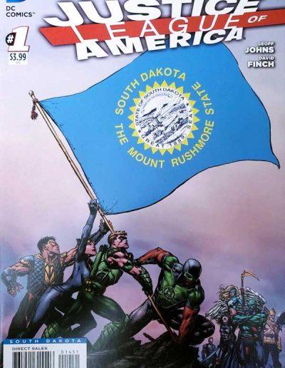 Justice League of America (Vol 3) #1 (South Dakota Variant) - April 2013
