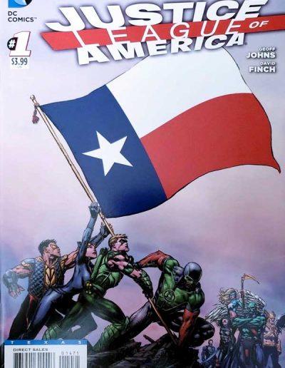 Justice League of America (Vol 3) #1 (Texas Variant) - April 2013