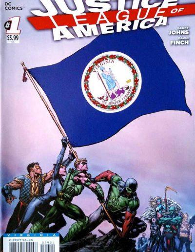 Justice League of America (Vol 3) #1 (West Virginia Variant) - April 2013