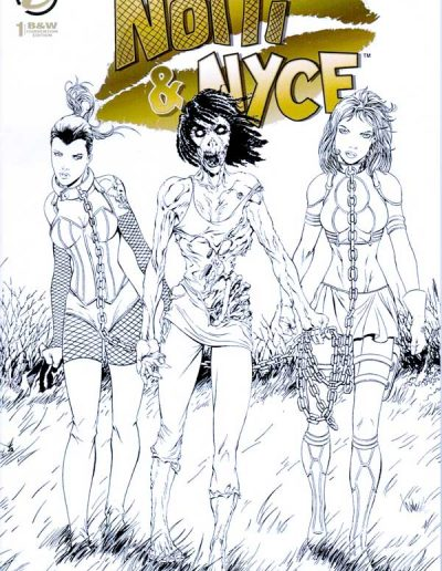 Notti & Nyce (Vol 2) #1 (Walking Dead 19 Homage BW Convention Variant) - December 2013