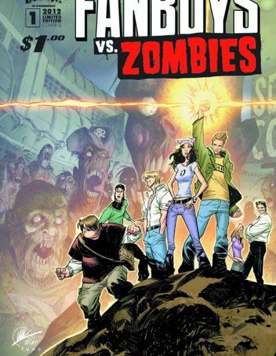 Fanboys vs Zombies #1 (Matteo Scalera Variant) - April 2012