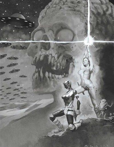 Mars Attacks Red Sonja #3 (Suydam Virgin Grayscale Variant) - October 2020
