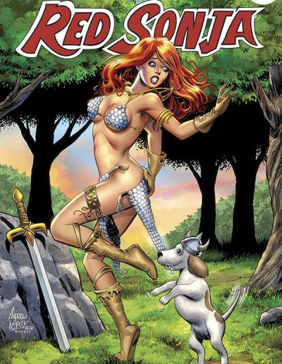 Red Sonja (Vol 5) #100 (Andrew Pepoy Variant) - February 2015