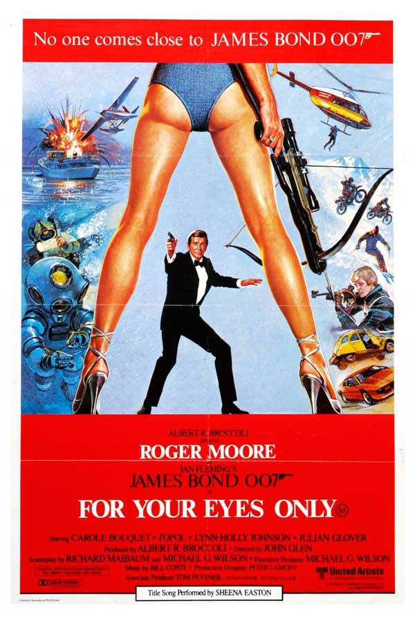 For Your Eyes Only (James Bond) Red Movie Poster