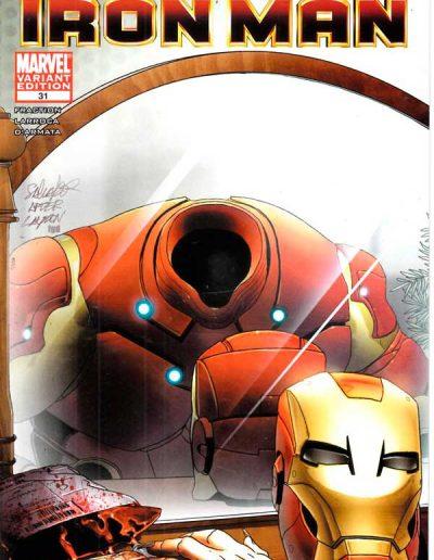 Invincible Iron Man #31 (Salvadore Larroca Vampire Variant) - December 2010