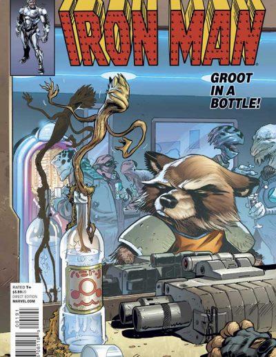 Superior Iron Man #1 (Rocket Raccoon Variant) - January 2015