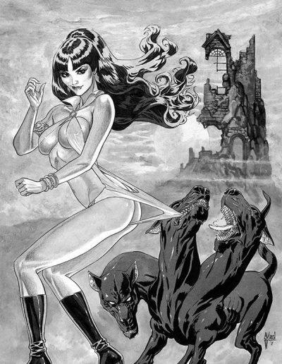 Vampirella (Vol 9) #7 (Guillem March Virgin B/W Variant) - January 2020