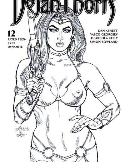 Dejah Thoris (Vol 3) #12 (Linsner Black/White Sketch Variant) - May 2021
