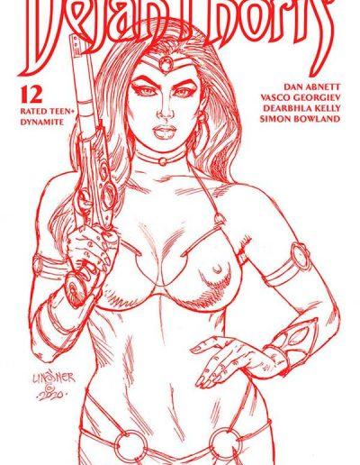 Dejah Thoris (Vol 3) #12 (Linsner Martian Red Sketch Variant) - May 2021