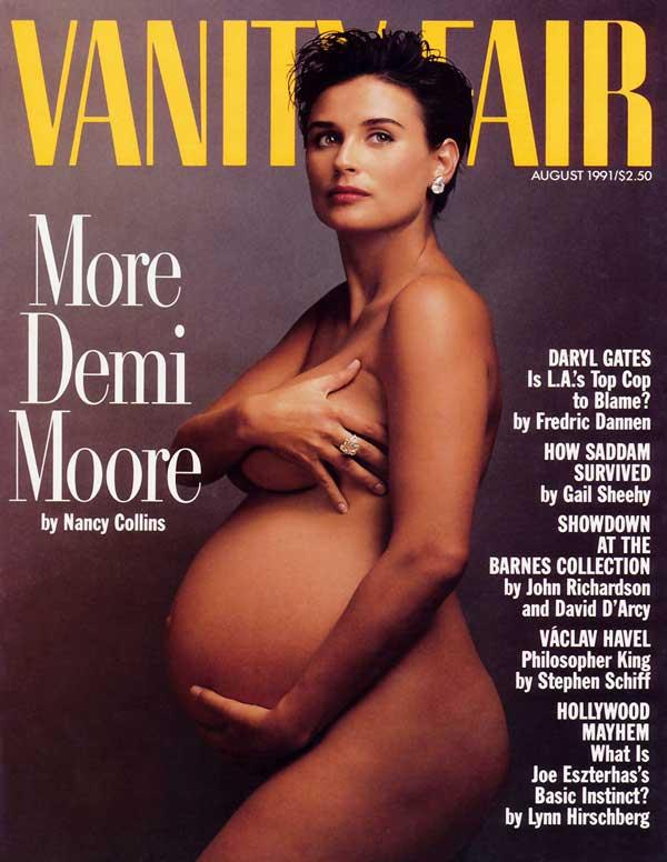 Vanity Fair (Demi Moore Pregnant & Nude Cover) - August 1991