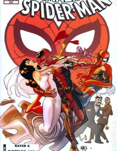 Amazing Spiderman #620 (Deadpool 1:15 Variant) - April 2010
