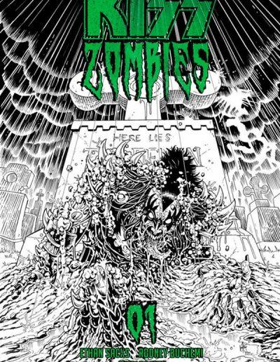 Kiss Zombies #1 (Ken Haeser Black & White Variant) - November 2019