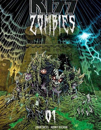 Kiss Zombies #1 (Ken Haeser Color Variant) - November 2019