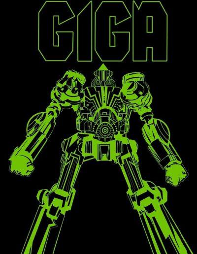 Giga #1 (Glow-in-the-Dark Standard & Black Light Variants) - October 2020