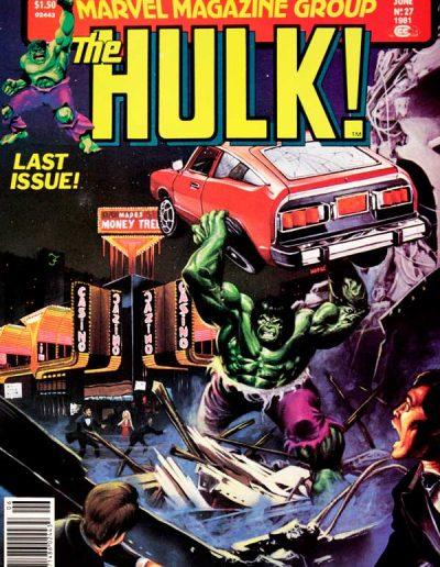 The Hulk! (Magazine) #27 (Final Issue) - June 1981