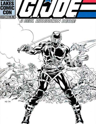 G.I. Joe: A Real American Hero #224 (Great Lakes Comic Con B/W Variant) - January 2016
